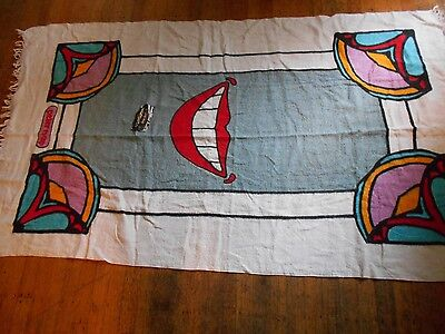 "peter max beach towel  smile 59""x34""new old stock with tag"