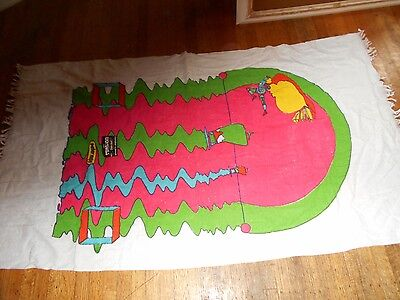 "peter max beach towel  flying man 59""x34""new old stock with tag"