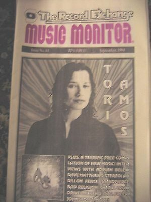 Tori Amos on the Cover of The Record Exchange  Music Monitor Magazine!  1994