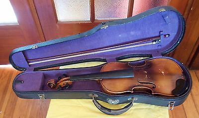 Vintage 1/2 size German violin ca. 1920's with original case and bow
