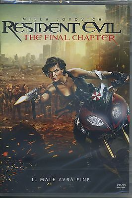 RESIDENT EVIL - The Final Chapter (DVD) con Milla Jovovich DVD NUOVO