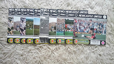 Collection of 10 1987-1988 Newcastle United programmes