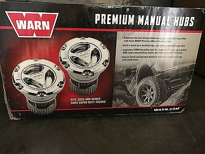 Warn Locking Hubs Chrome Front Axle Ford F250 F350 Superduty 4Wd 2005-2015