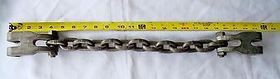 """Frame Machine Pulling (2) Single Claw Hook With 3/8"""" Chain 24"""" Long"""