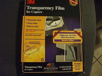Transparency Film  For Copiers- 3M 965 Sheets - Pp2200 - Has Side Edge Strip