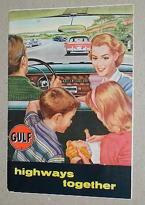 **vintage 1958 Gulf Gasoline Vacation Travel Planning Brochure***