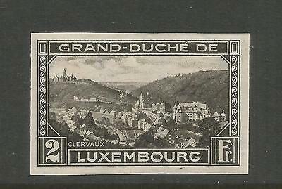 LUXEMBOURG 1935 PHILATELIC EXHIBITION issue- CLERVAUX. 2F BLACK . MNH