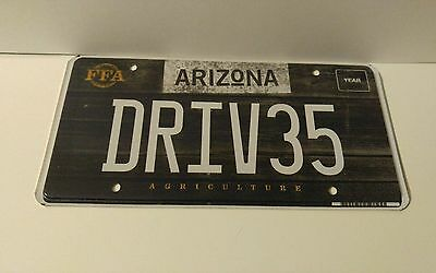 ARIZONA AGRICULTURE FFA AZ Graphic License Plate NEW **RARE** custom DRIV35