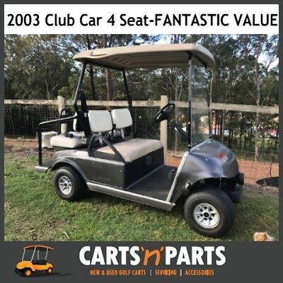 Club Car DS Golf Cart Buggy 4 seat 2003 Very Good batteries 2012 Trojan strong b