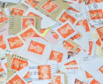 """1500 of stamps 1st class """"red"""" used on paper/NON SECURITY MACH./"""