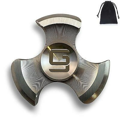 Posiden by GodSpin Color Fidget Hand Spinner Focus ADHD Stainless Steel Silver