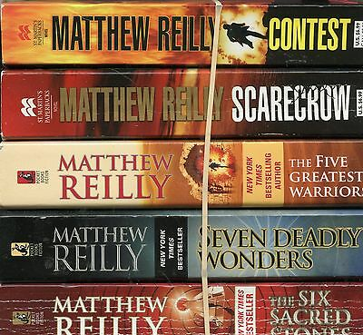 Lot Of 5 Pb~Matthew Reilly~Contest~6 Sacred Stones~Scare Returns~7 Deadly Wonder