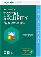 "Kaspersky Total Security - Multi-Device"" 3 Postes - 2 Ans (en téléchargement)"""