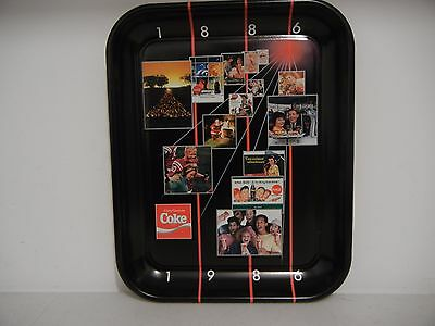 Coca-Cola Coke Metal Tray 1986 Edition Advertising English / French