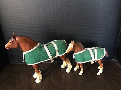 Vintage Breyer Horses Clydesdale And Foal
