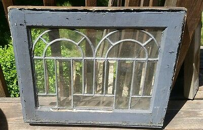 "Victorian antique window 10 x 14"" geometric design"