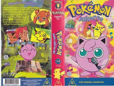 Pokemon  Jiggly Puff  Volume  14  Vhs Pal Video~ A Rare Find
