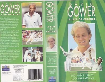 Cricket David Gower A Life Of Cricket  Vhs Video Pal A Rare Find