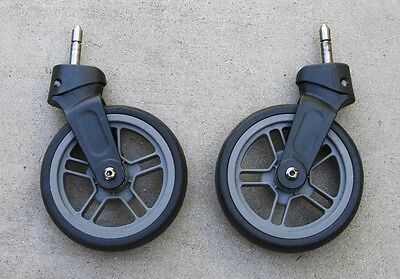 2014 and Earlier - UPPAbaby CRUZ Front Wheels Gray 5 Spoke
