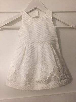 Girls Janie And Jack Summer White Dress Size 12-18M