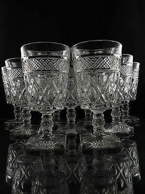 Imperial Cape Cod Water Goblet Glasses. Set of (9), Excellent Condition