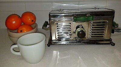 VINTAGE RARE 1928 C.W. CARTER MFG CO ELECTRIC AUTO GRILL Sandwich Bacon Maker