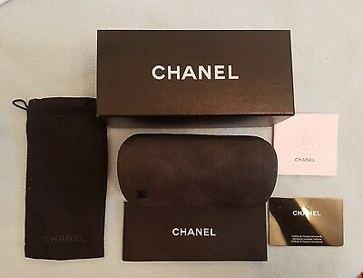 Chanel Spectacles/sunglasses Hard Case & Soft Pouch Genuine Brand New