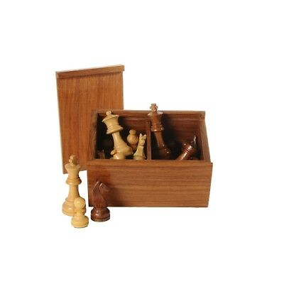 Chess figures Palisander black nature - Kings height 83 mm