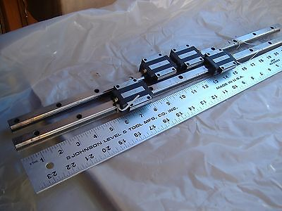 THK H15CA LINEAR RAILS ~ 23 in. LENGTH