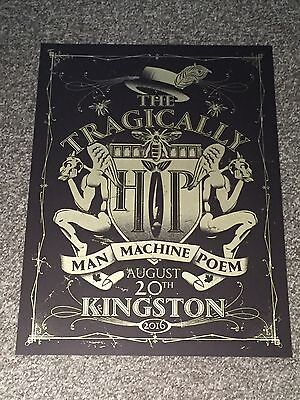 Limited Edition Tragically Hip Man Machine Poem Tour Event Poster Kingston