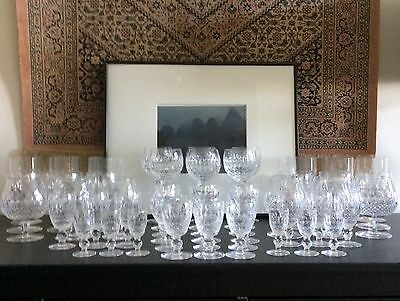 48 Piece Suite Of WATERFORD Crystal Glasses COLLEEN ~Excellent