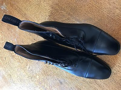 New Cheaney Mens Calf Black King Derby Boots UK9.5