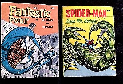 Big Little Books, Set Of 2 Fantastic Four And Spiderman, Fn
