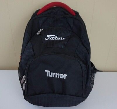 Titleist Golf Black Backpack with Turner Promo Logo Laptop Compartment