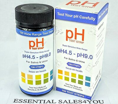 pH Test Strips Saliva and Urine, Results in Seconds Alkaline & Acid - BONUS PDF