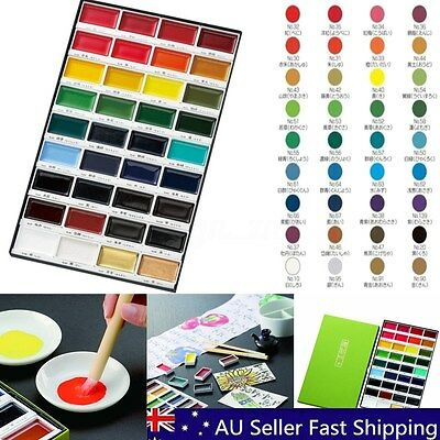 36 Colors Kuretake Gansai Tambi Traditional Solid Water Based Pigment Set