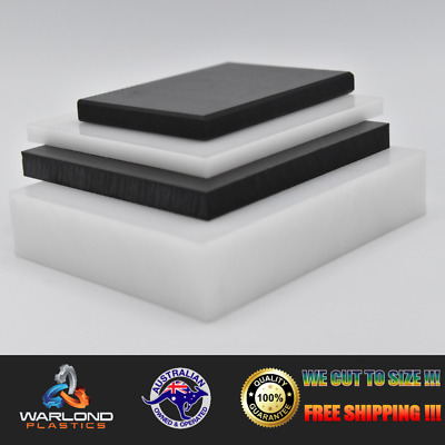 Black & White Hdpe Sheets - Select Size - Free Shipping!