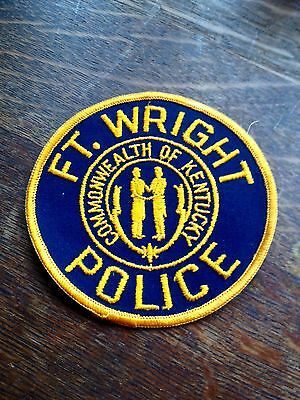"""NOVELTY SECURITY PATCH  Police Commonwealth Of Kentucky 4 1/4"""" X 3 3/4"""" Gold Blk"""