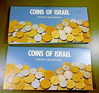 Israel 1986 Official Mint Piefort Coins Set