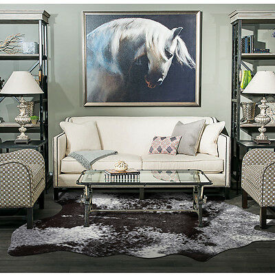 Imitation Cowhide Rug Black Brown Tan Grey Animal Leather Carpet Premium Quality