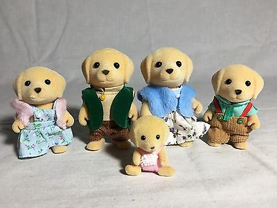 Calico Critters/sylvanian Families Yellow Lab Family  Of 5