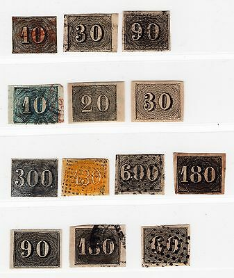 Brazil from classic / 1850 Numbers - postmarked and unused / 430 Rice etc