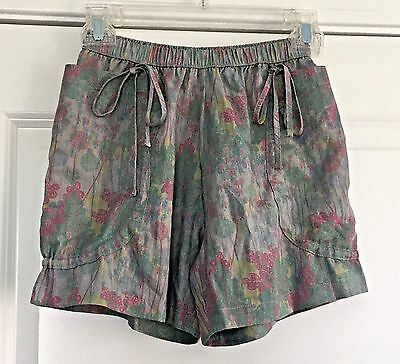 PAPER WINGS Sz 8 Girls' Gray Cotton Floral  Shorts Luxe! Boutique!
