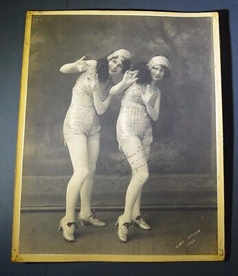 1920s Vaudeville McCarthy Sisters Danny Gailer Collection - Signed Pretty Girls