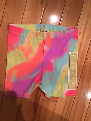 Girls Tye Dye Summer Cotton Shorts, 2T By Circo -NEW