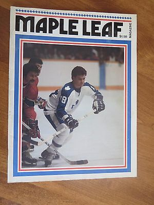 1976 Toronto Maple Leafs vs. Montreal NHL program