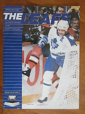 1990 Toronto Maple Leafs vs. Winnipeg Jets NHL program with ticket stub