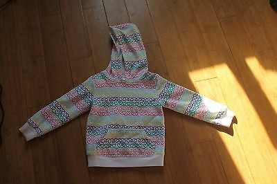 Girls Jumping Beans 3T Hooded Hoodie White multi colored hearts Sweatshirt