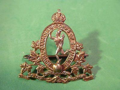 WW2 Canadian Royal Canadian Corps Of Signals Cap Badge