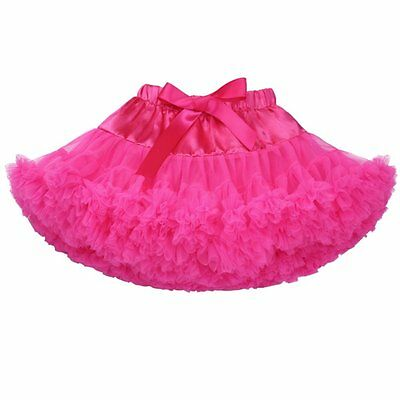 Kids Girls' Solid Color Fluffy Dance Tutu Toddlers Pettiskirt for US 2-8 T